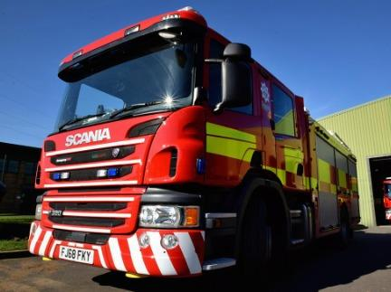 A fire crew from Kidderminster helped the woman down.