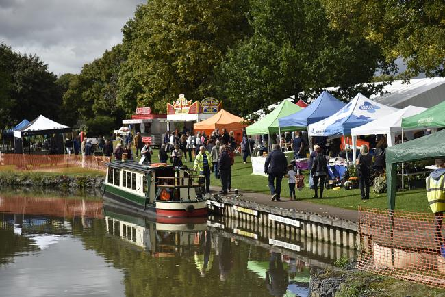VIEW: Salt Fest in Droitwich with a view down the canal in 2017.
