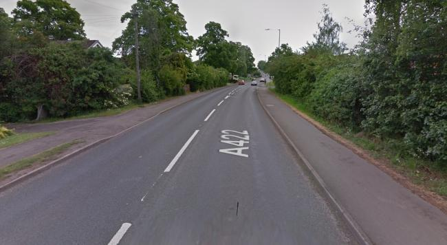 A collision took place between a green Ford C-Max and a blue Audi S3 on the A422 Alcester Road