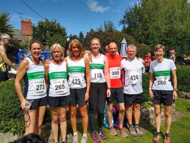 Ledbury Harriers at the Coppett Hill fell race