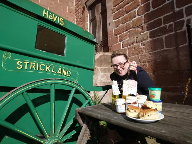 Deborah Hill preparing for Hartlebury Castle's first food and drink festival