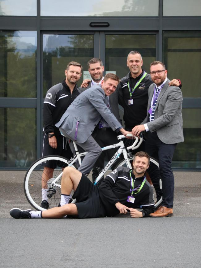 Baxter College principal Matthew Carpenter will be joined by six PE teachers on the sponsored bike ride
