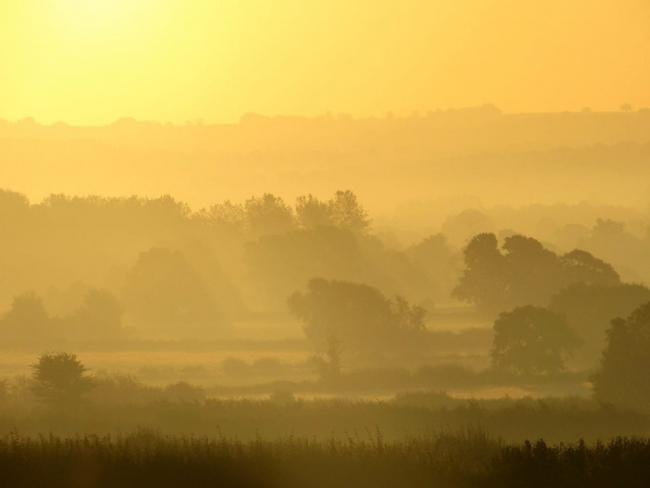 Magnificent sunrise near Leominster this morning. Picture: Karl Ryan
