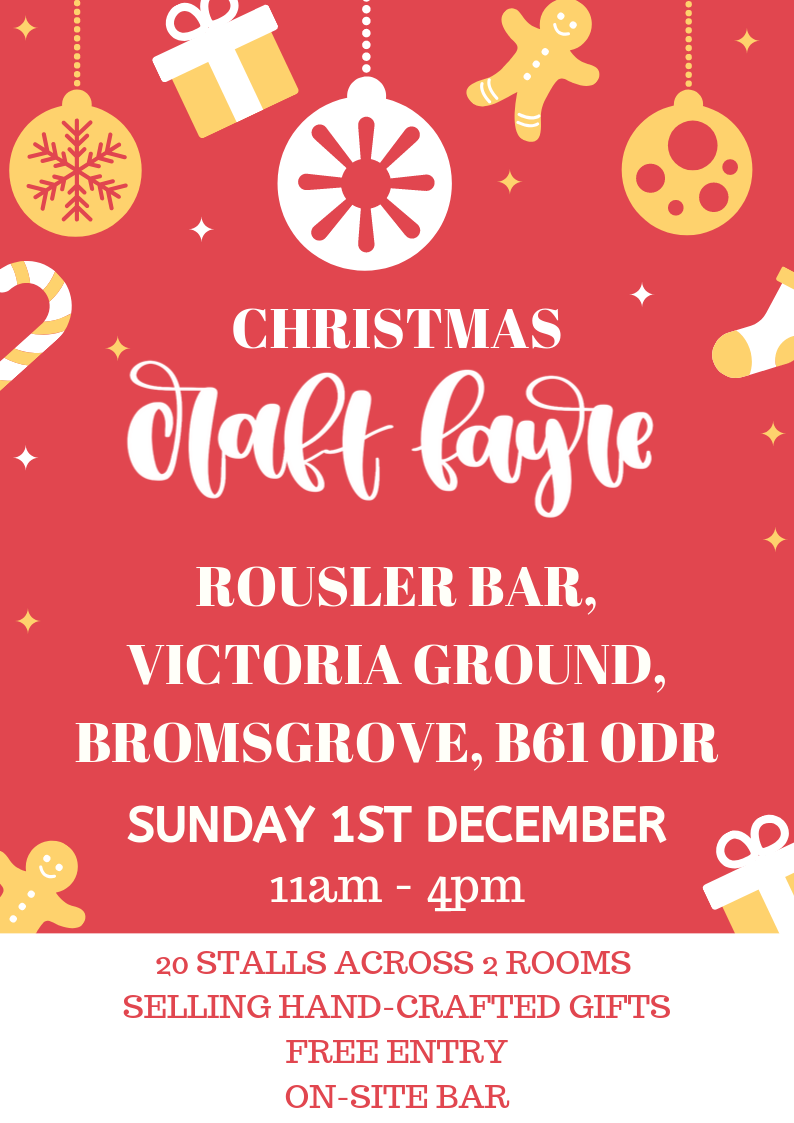 Christmas Craft Fayre at Bromsgrove Sporting's Victoria Ground