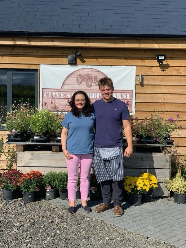 WALK: Sally Lentz with Rich Clive from Clive's of Cropthorne