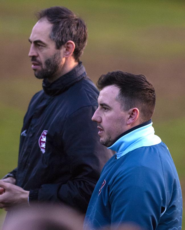 Malvern Town co-managers Dene Whittal-Williams and Lee Hooper. Picture: PAUL FRANCE/WRITE ANGLE MEDIA