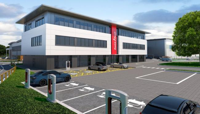 UNITS: Indicative CGI of one of three new units planned at Worcester Six Business Park.