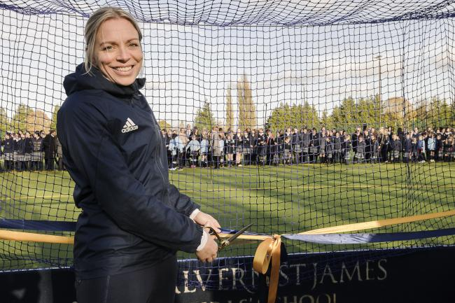 OPEN: Kate RIchardson-Walsh opened the new astroturf courts at Malvern St James