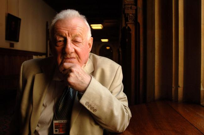 PA File Photo dated 30/04/07 of Press Association political correspondent Chris Moncrieff in the Community Corridor of the Houses of Parliament in Westminster, London. Mr Moncrieff, the former PA Political Editor has died aged 88. See PA Feature POLITICS