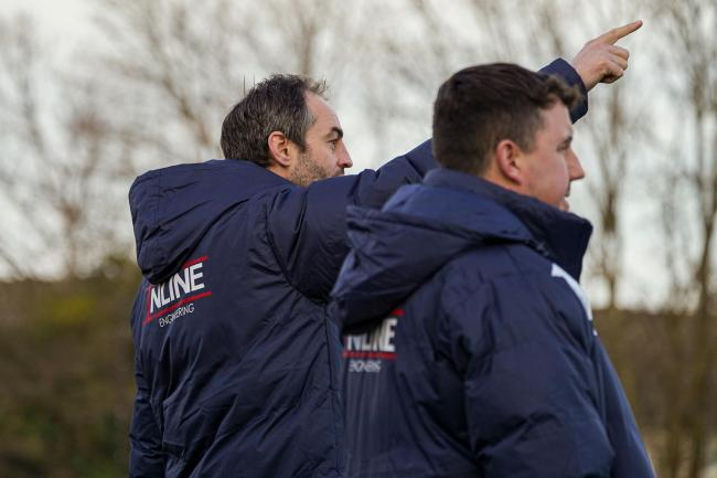 Malvern Town co-managers Dene Whittal-Williams and Lee Hooper. Picture: CLIFF WILLIAMS