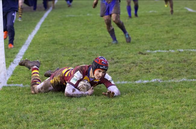 Lewis Hardiman bagged a hat-trick of tries in Malvern's Midlands semi-final win. Picture: IAN SAVAGE
