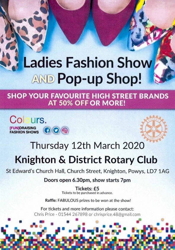 KNIGHTON ROTARY CLUB HOLDS FASHION SHOW FOR LOCAL CHARITIES
