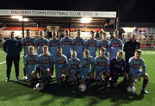Malvern Town under 18s face the camera. Picture: MALVERN TOWN FC