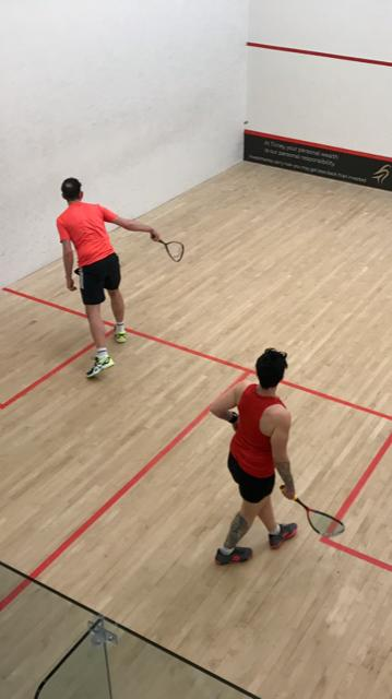 Oliver Parker (left). Picture: Malvern Active Squash Team