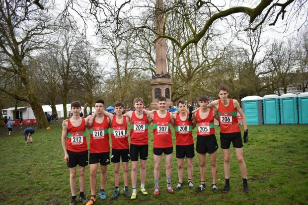 The senior boys. Picture: HEREFORD & WORCESTERSHIRE SCHOOLS' ATHLETICS ASSOCIATION