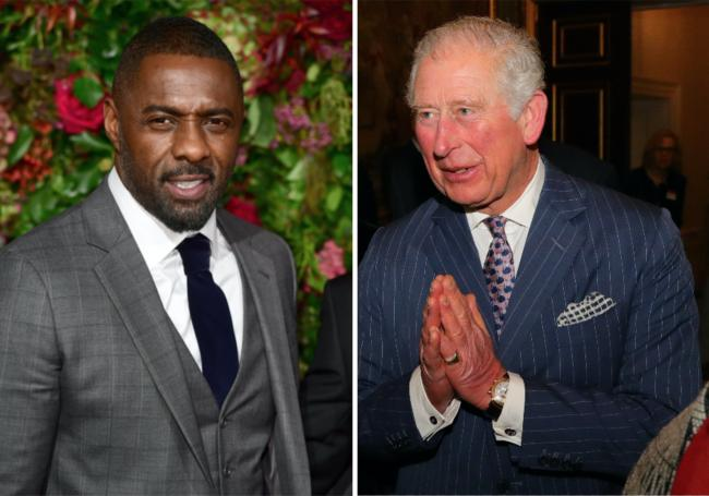 Idris Elba and Prince Charles. Pictures: PA Wire