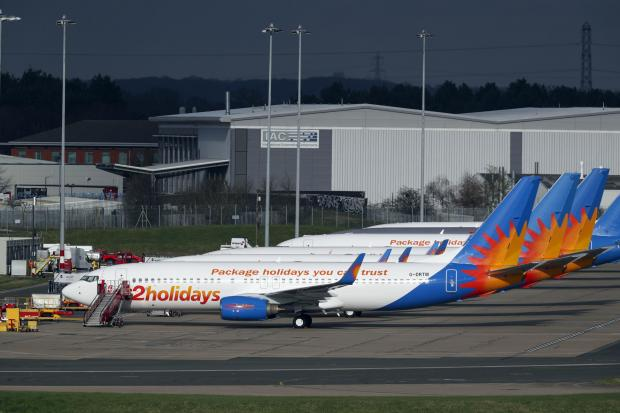 Malvern Gazette: AIRLINE: Several Jet2 planes have been parked up at Birmingham Airport during the pandemic. Picture: Steve Parsons/PA