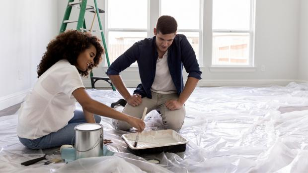 Malvern Gazette: Prepping your workspace with a drop cloth or plastic covering is a key part of the process. Credit: Getty Images / SDI Productions