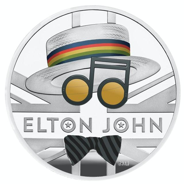 The Royal Mint's Elton John 2020 UK One Ounce Silver Proof Coin (The Royal Mint/PA)