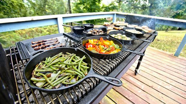 Malvern Gazette: A good cast iron (or four) can help you cook up vegetable and more on the BBQ. Credit: Amazon / Lodge