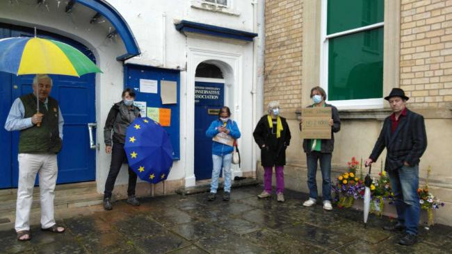 Members of the Herefordshire for Europe group protested against the new Agriculture Bill outside the Leominster office of North Herefordshire MP Bill Wiggin