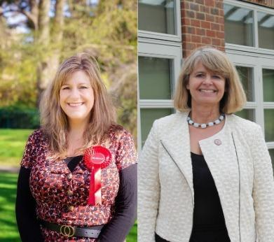 HEALTH: Samantha Charles (left) has criticised Harriett Baldwin MP (right) over the bill
