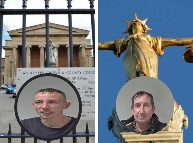 DOCK: L-R are Jack Payne and James Boyles who both appeared at Worcester Crown Court