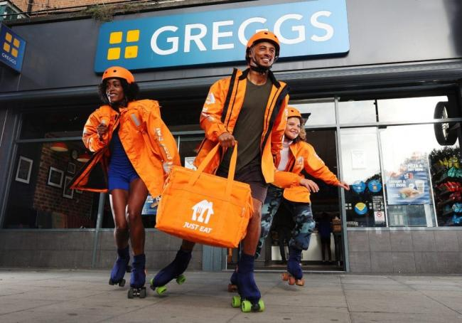 Greggs launch new 'roller-skate' delivery service on Just Eat (Would you use it?). Picture: Greggs/JustEat