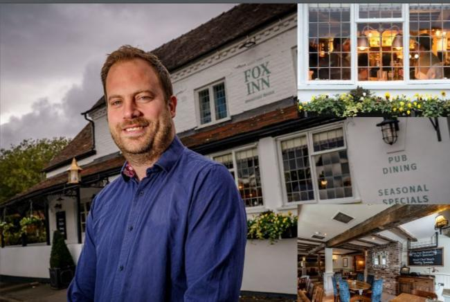 DELIGHTED: Alan Dearden, general manager at the Fox Inn