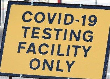 TESTING: Covid-19 test sign