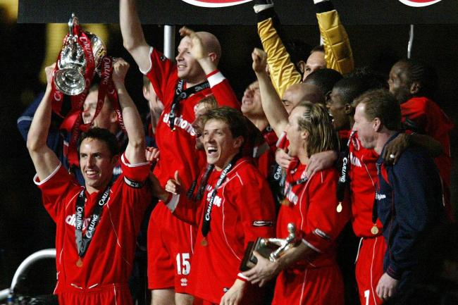 Middlesbrough celebrate winning the Carling Cup