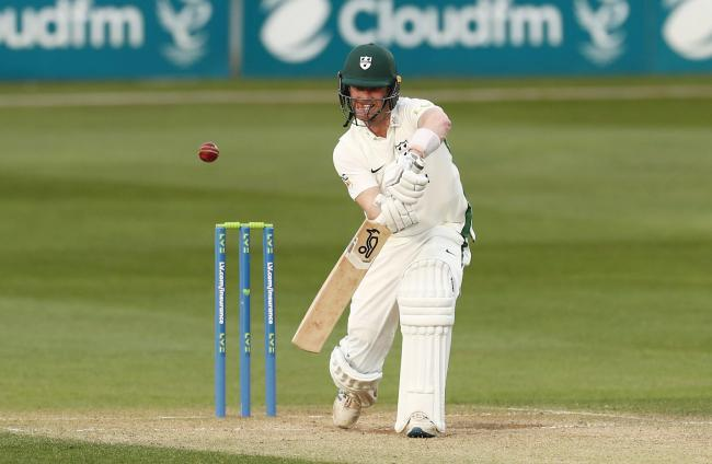 CENTURION: Jake Libby hits his second century of the County Championship season on day 1 of the match against Nottinghamshire at New Road. Picture by James Marsh.