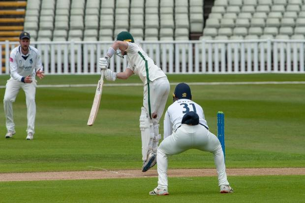 Jake Libby at the crease, where he again impressed with the bat. Pic: Paul France/Write Angle Media
