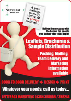 Malvern Gazette: leaflet distibution promotion