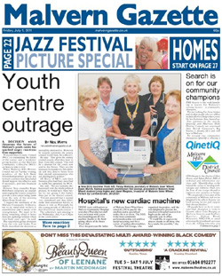 Malvern Gazette: Malvern Gazette Front Page July 1st 2011