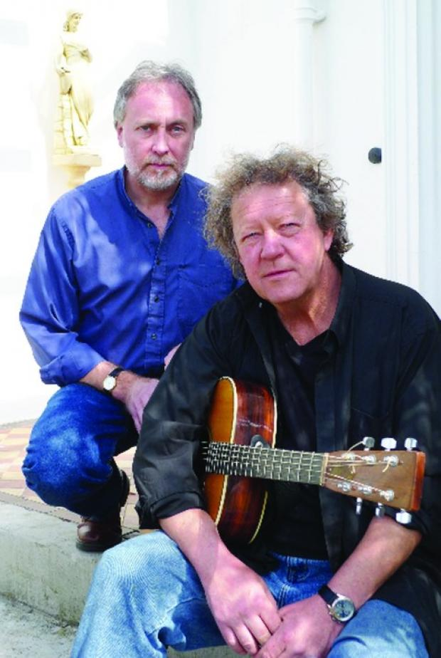 Folk Duo: Mick Ryan and Paul Downes will play the bar of the Roses on Tuesday.