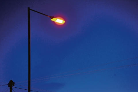 Street lights: going off in Worcestershire