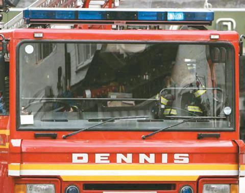 Chimney fire at Eckington house