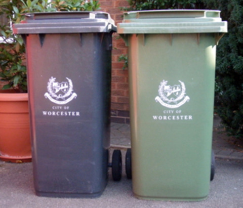 Bigger bins are there for recycling