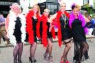 FESTIVAL: Maragret Taylor, Philippa Jones, Maria Kledyk, Joyce Simonds and Clare Dubberly in last year's parade.