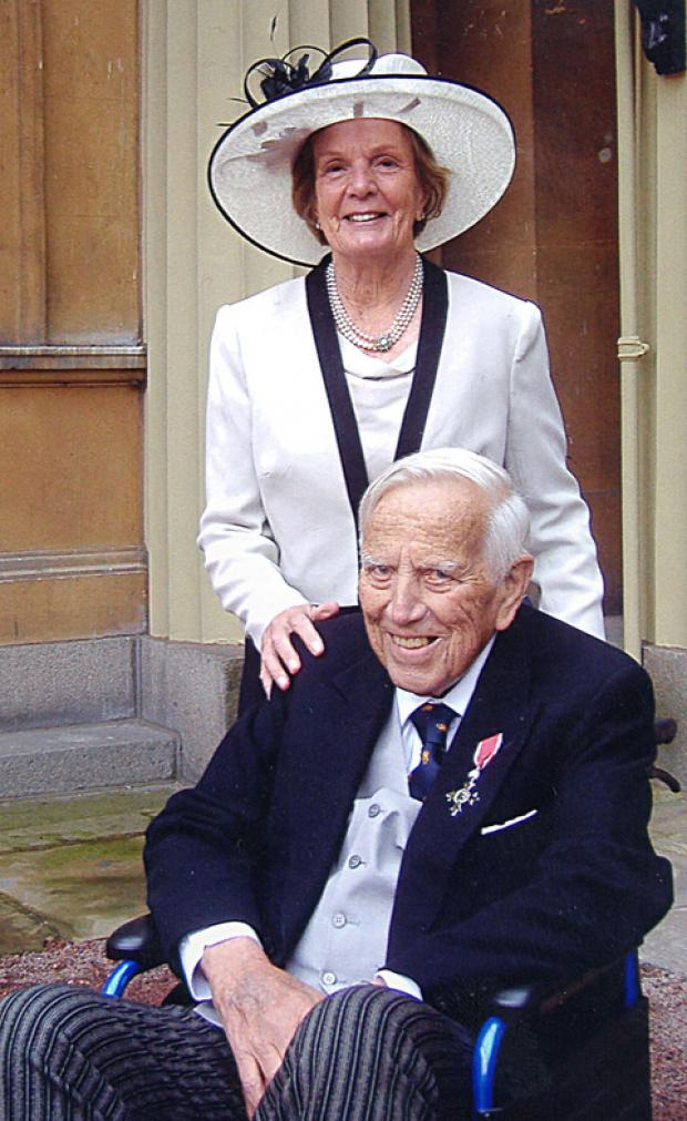 Malvern Gazette: HONOUR: George Chesterton with his wife Vanessa