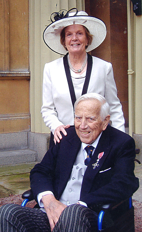 HONOUR: George Chesterton with his wife Vanessa