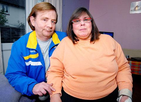 WORRIED: Anthony Driver is a full-time carer for his fiancée Collette Jackson. (45171701)