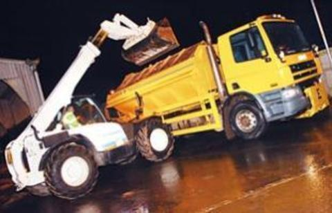 Gritters out as chill grips county