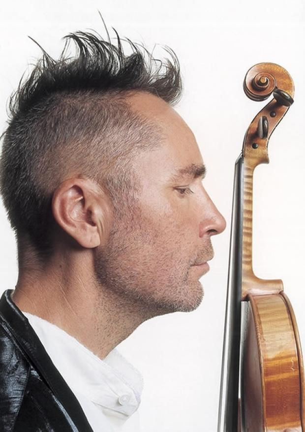 HOMECOMING: Violinist Nigel Kennedy playing in Malvern.