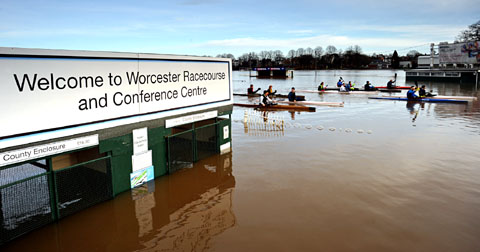 Six flood warnings in place after Severn bursts its banks.. again!