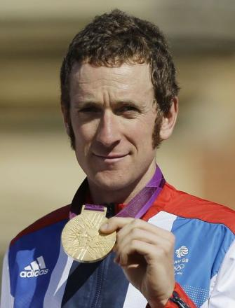 HONOURED: Cyclist Bradley Wiggins