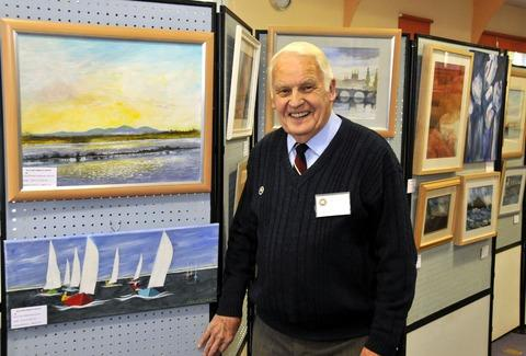 Art fans brave the rain to enjoy new exhibition