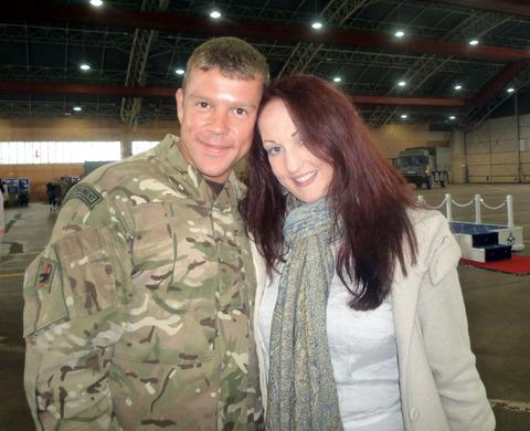 WILL YOU BE MY WIFE?: Serving soldier Steve Savage, from Malvern, proposed to his fiancé Jenny Black on Christmas Day