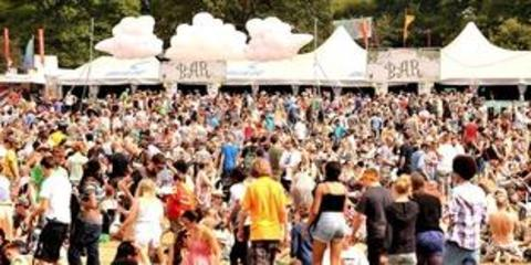 A sea of people enjoy the last day of the 2010 festival.